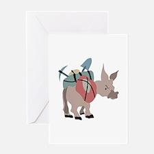 Pack Mule Greeting Cards