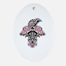 Cute Haida Oval Ornament