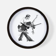 Salsa dancers Wall Clock