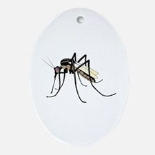 Brown mosquito Oval Ornament