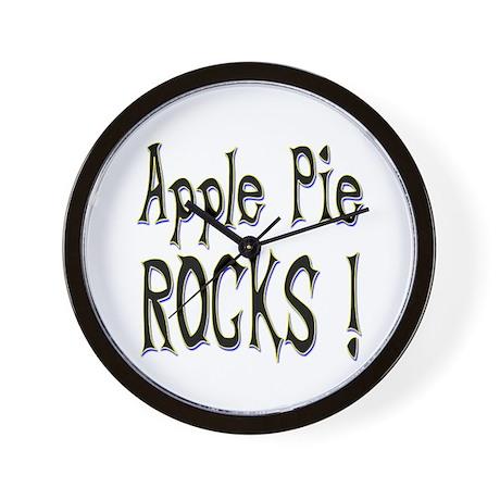 Apple Pie Rocks ! Wall Clock