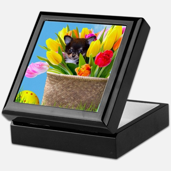 Easter Chihuahua Keepsake Box