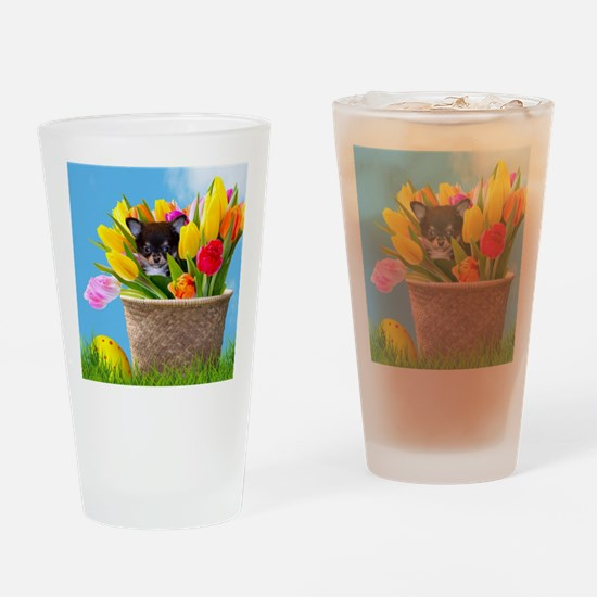 Easter Chihuahua Drinking Glass