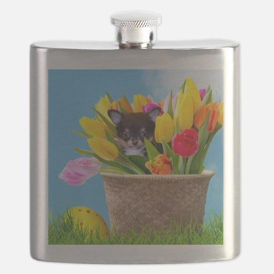 Easter Chihuahua Flask