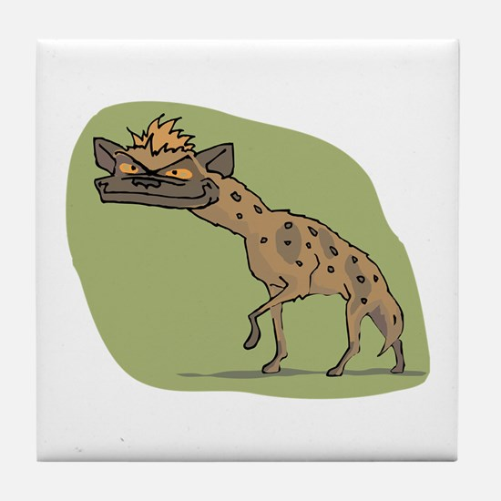 Jackal cartoon Tile Coaster