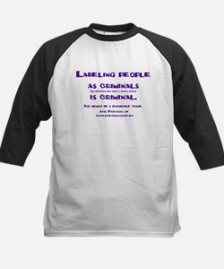 Labeling is criminal Kids Baseball Jersey