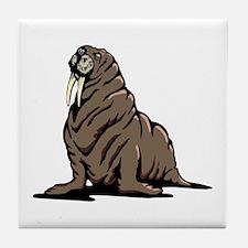 Walrus sitting Tile Coaster