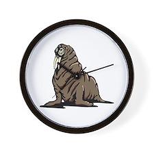 Walrus sitting Wall Clock