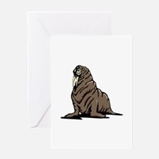 Walrus sitting Greeting Cards
