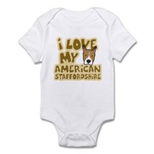 I Love my AmStaff Infant Bodysuit