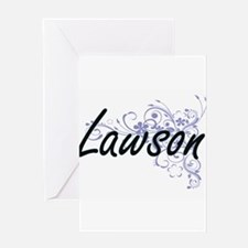 Lawson surname artistic design with Greeting Cards
