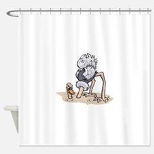 Ostrich Head Out of Sand Shower Curtain