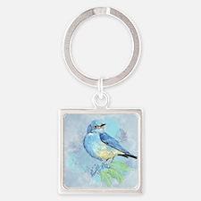 Watercolor Bluebird Blue Bird Art Keychains