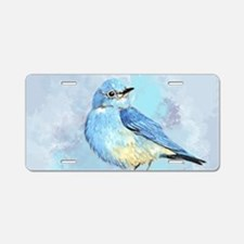 Watercolor Bluebird Blue Bird Art Aluminum License