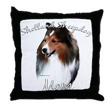 Sheltie Mom2 Throw Pillow
