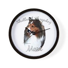 Sheltie Mom2 Wall Clock