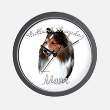 Sheltie Mom2 Wall Clock