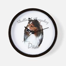 Sheltie Dad2 Wall Clock