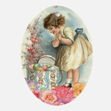 victorian easter Oval Ornament