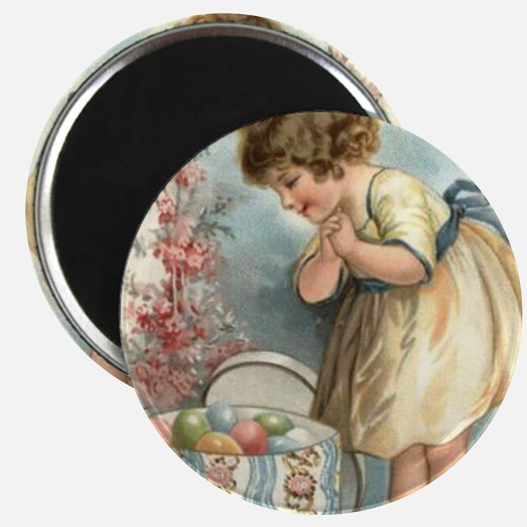 victorian easter Magnets