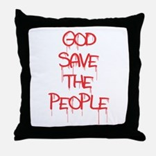 God Save The People Throw Pillow