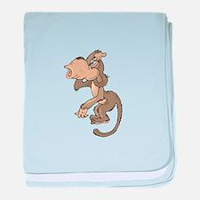 Monkey Confused baby blanket