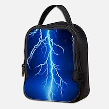 Blue Lightning Bolt Neoprene Lunch Bag