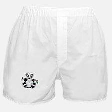 Panda and Bamboo Boxer Shorts