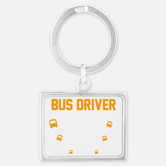 Cute Bus driver Landscape Keychain