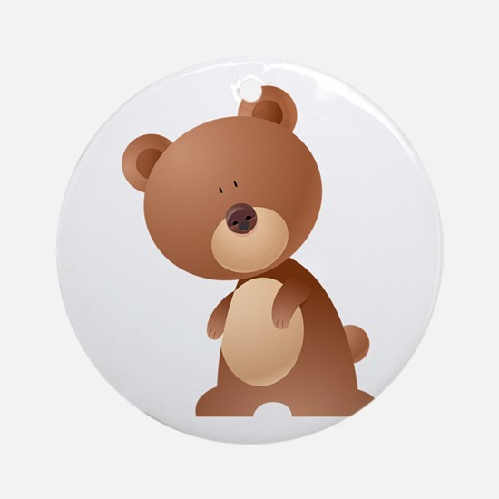 Brownie bear cartoon Round Ornament