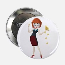 "Business lady with gold co 2.25"" Button (100 pack)"