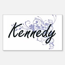 Kennedy surname artistic design with Flowe Decal