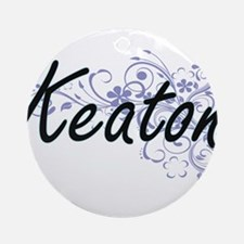 Keaton surname artistic design with Round Ornament