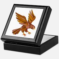 Peregrine Falcon Swooping Low Polygon Keepsake Box