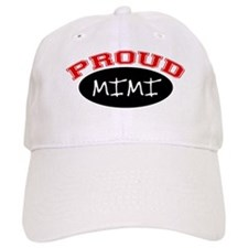 Proud Mimi (red & black) Baseball Cap