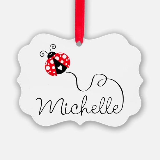 Ladybug Michelle Ornament