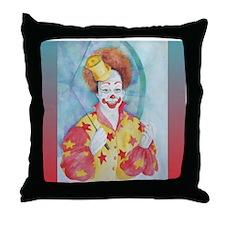 Starr clown Throw Pillow
