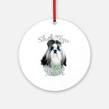 Shih Tzu Mom2 Ornament (Round)