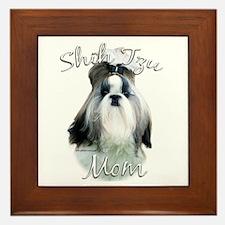 Shih Tzu Mom2 Framed Tile