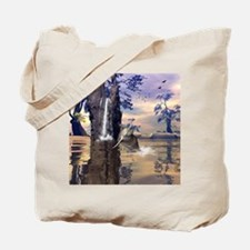 Funny dolphin Tote Bag