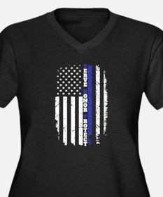 The Thin Blue Line Plus Size T-Shirt