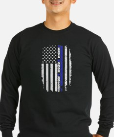 The Thin Blue Line Long Sleeve T-Shirt