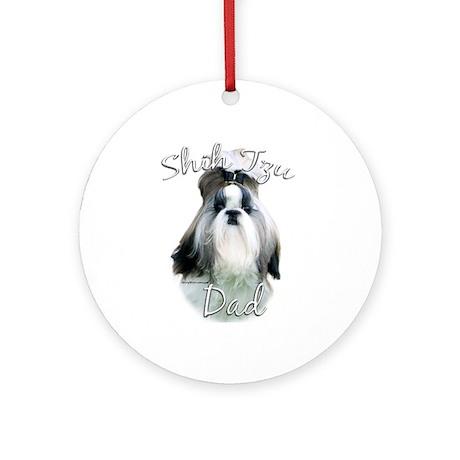 Shih Tzu Dad2 Ornament (Round)