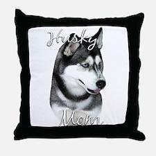 Husky Mom2 Throw Pillow