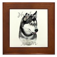 Husky Mom2 Framed Tile