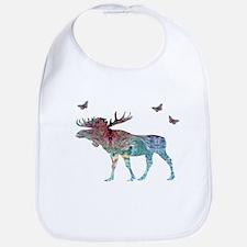 Moose Baby Bib