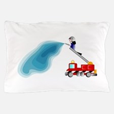 Fire truck And Fireman Pillow Case