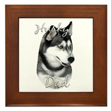 Husky Dad2 Framed Tile