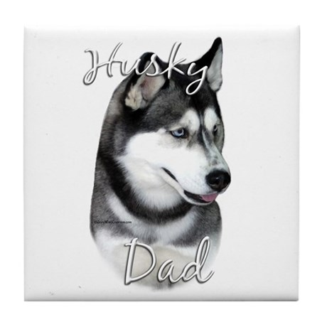 Husky Dad2 Tile Coaster
