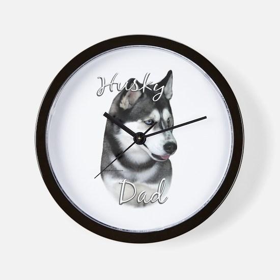 Husky Dad2 Wall Clock